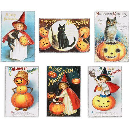 Halloween glitter postcards, Paper Source, $13.95