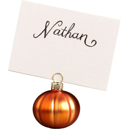 Pumpkin place card holders, Paper Source, $12.95