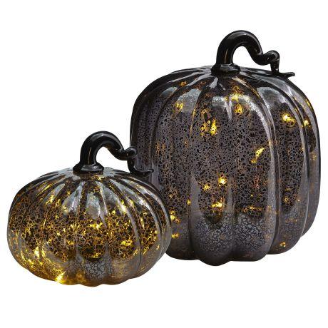 Mercury pumpkin LEDs, Pier One, $14.95-19.95