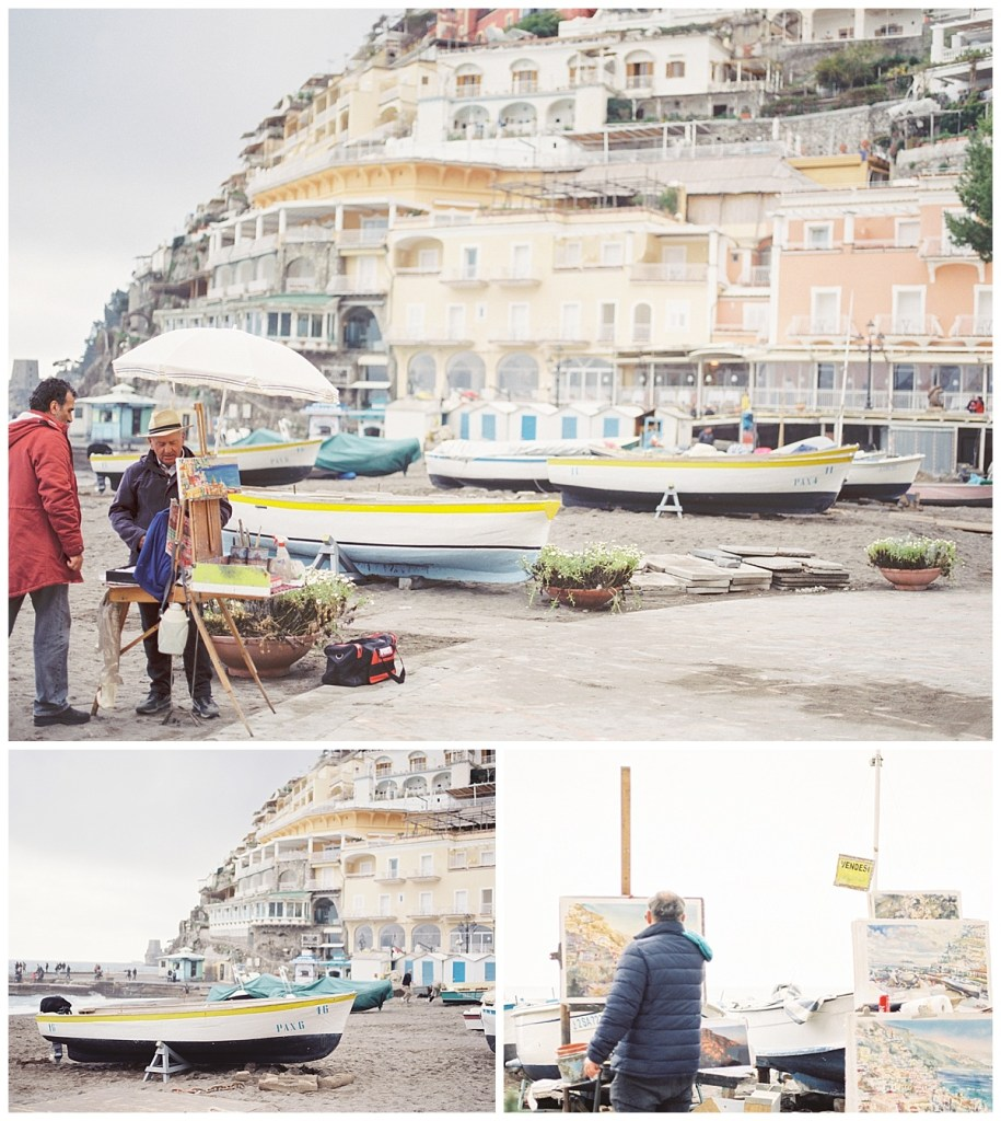 Amalfi Coast Italy Travel Film Photography, Positano Painter