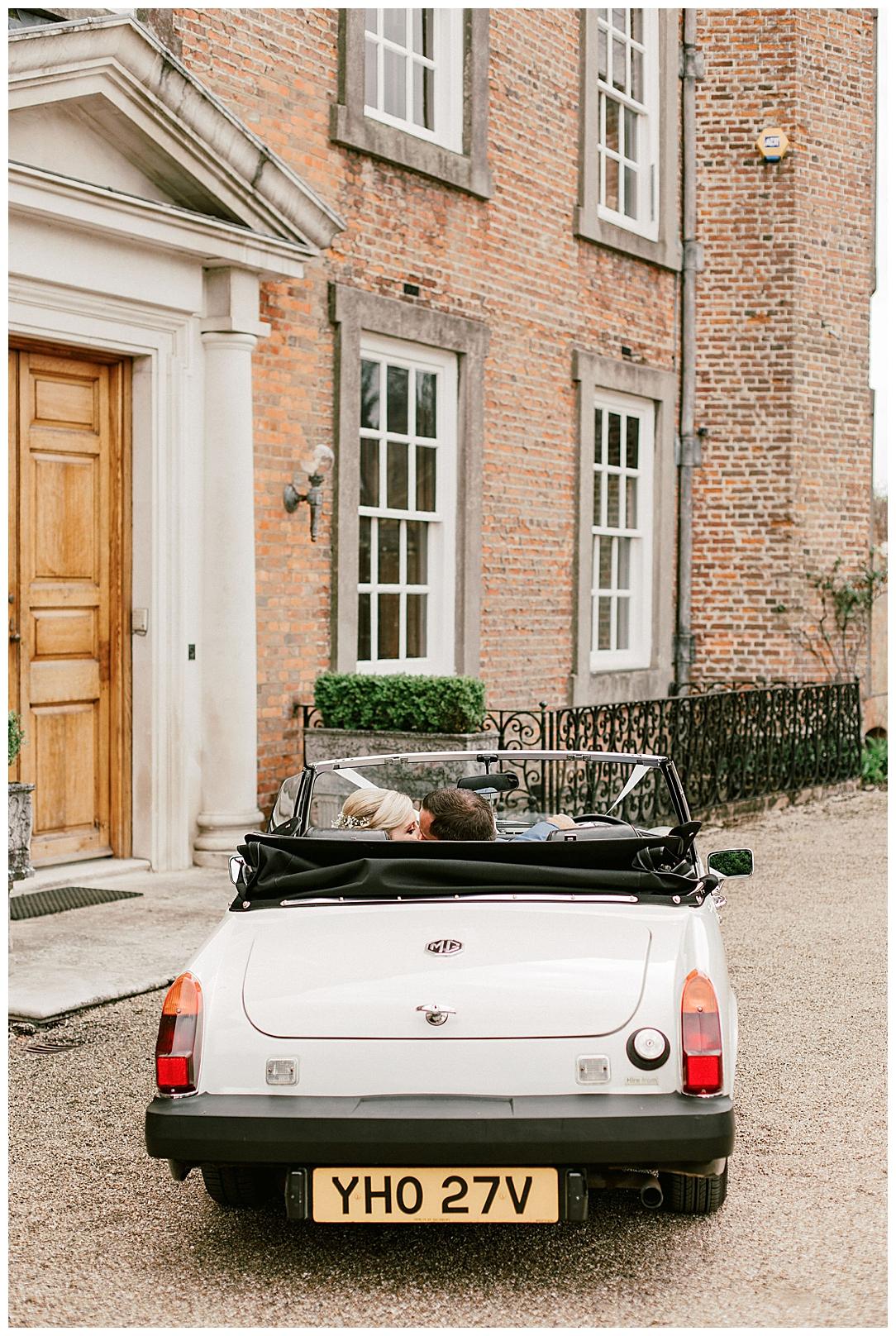 Vintage Car - St Clere Estate - Kent England UK Garden Wedding