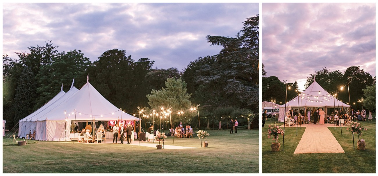 Tent Wedding Inspiration - St Clere Estate - Kent England UK Garden Wedding