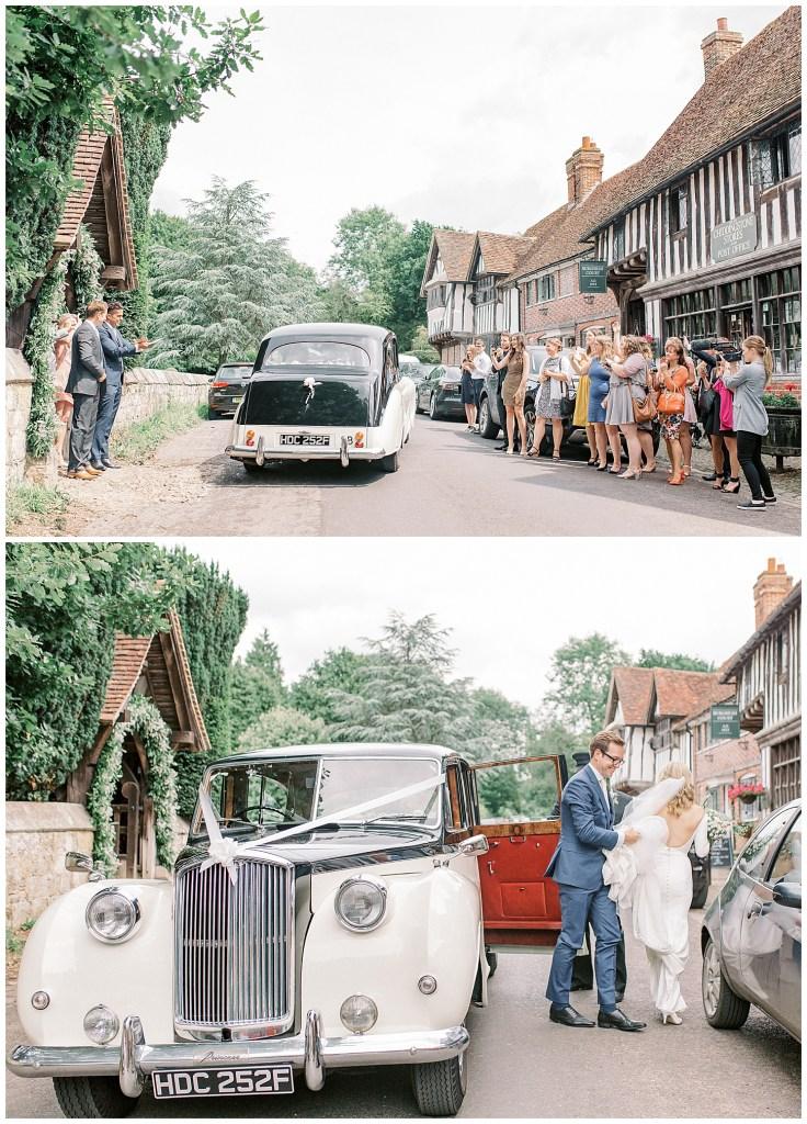 Chiddingstone Wedding Vintage Car