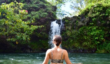 Pua'a Ka'a State Wayside Park - I couldn't resist a dip in the beautiful pool at this waterfall!