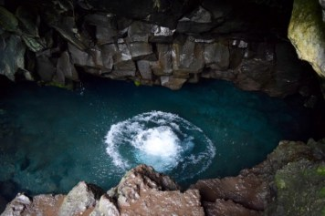 Cave Pool! - If you're making a stop at Waianapanapa State Park don't miss going or a dip in this incredible cave pool, the water was a little chilly but oh so refreshing!