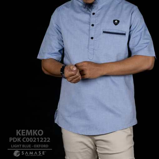 Kemeja koko light blue