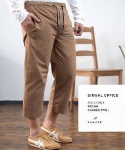 sirwal-office-reguler-n0023-brown-powder-twill