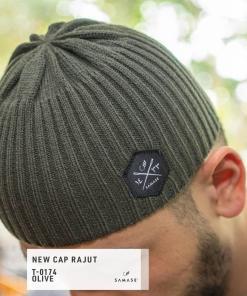new-cap-rajut-t0174-olive