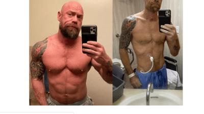 Coronavirus survivor shares shocking body transformation photo in hospital