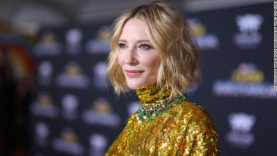 Cate Blanchett has cut her head with a chainsaw during…