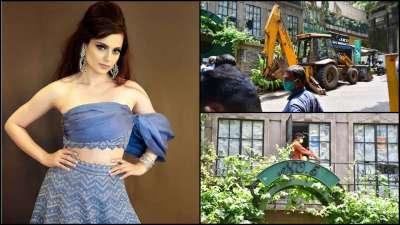 भारतीय अभिनेत्री कंगनाको निवासमा महानगरले चलायो डोजर