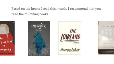From my reading list: Lowland, Evicted, Yambuner, The Discomfort of…