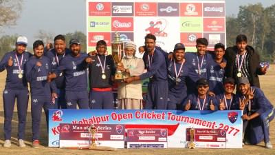 कोहलपुर ओपन क्रिकेट प्रतियोगिताको उपाधि बिबी वारियर्सलाई