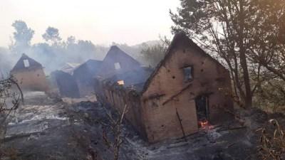रोल्पाको पिराले गाउँमा आगलागी हुँदा २५ घर जलेर नष्ट