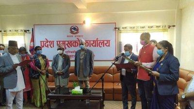 लुम्बिनी प्रदेशका मुख्यमन्त्रीद्वारा मन्त्रिपरिषद् पुर्नगठन