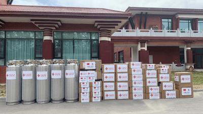 तिब्बत सरकारद्वारा ३० टन अक्सिजन सहयोग