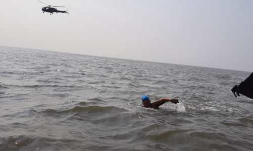 Jiya Rai, a 12 years old naval child, Swims 36 kilometers to create awareness about Autism Spectrum Disorder
