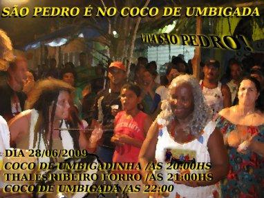 >São Pedro é no Coco de Umbigada!