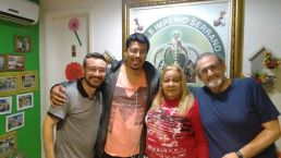 Gustavo Henrique, Diretor Musical do Embalo, Flávio Viana, D. Vera, Pres. do Império e Paulo Elias, Vice-Presidente de Carnaval do Império