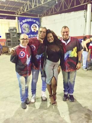 Trio de Carnavalescos e a PB Luiza Mendes