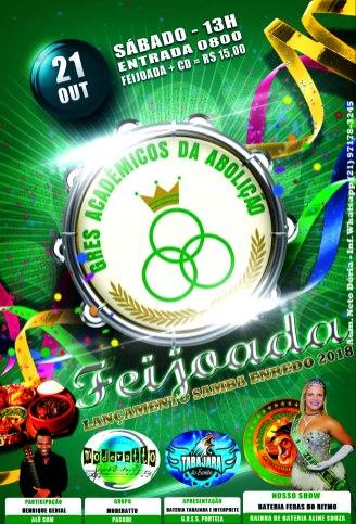 Flyer Oficial - Feijoada 21 Outubro