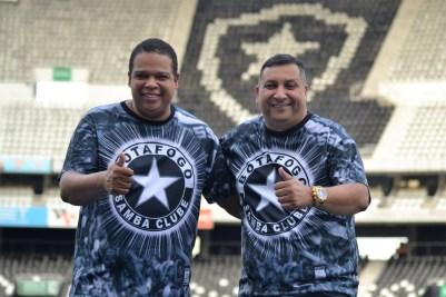 Wendell e Sandro Lima, presidente do Botafogo SC