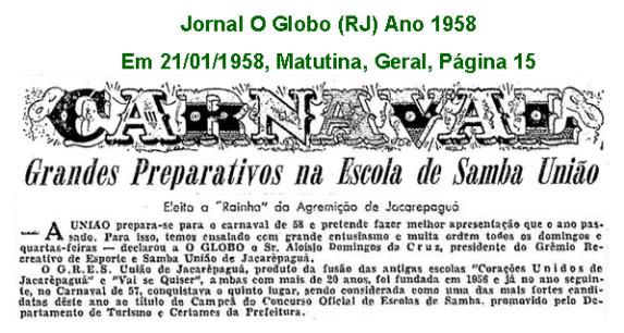 União Carnaval 1958 1