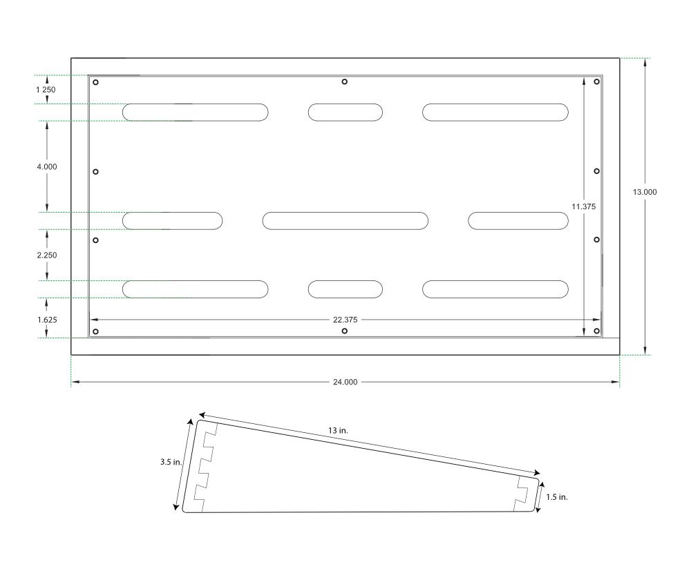 medium resolution of pedalboard dimensions