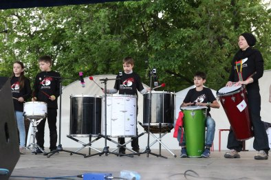 Enjoy Drumming Kids. Московский самба фестиваль 2018. Фото: Юрий Бомштейн