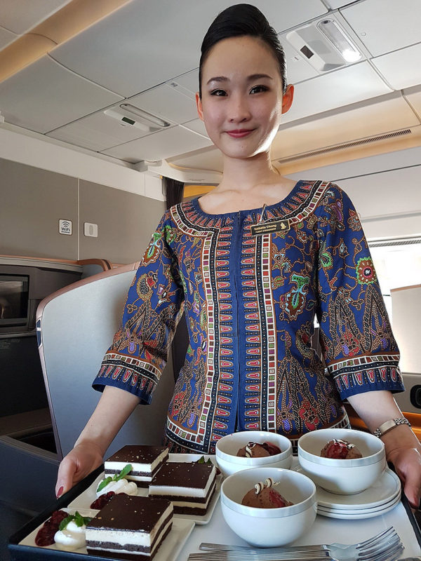Singapore Airlines in-flight service