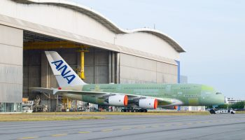 First ANA Airbus A380 exits final assembly