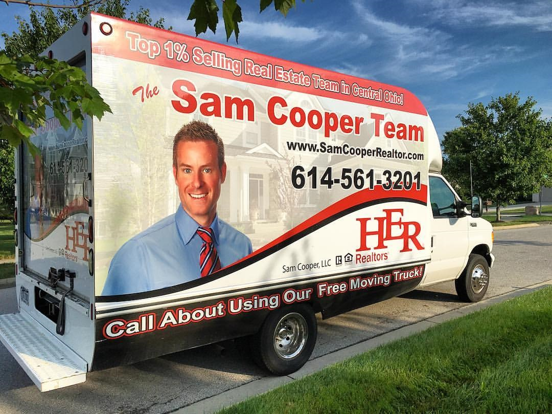 Sam Cooper Realtor Moving Truck