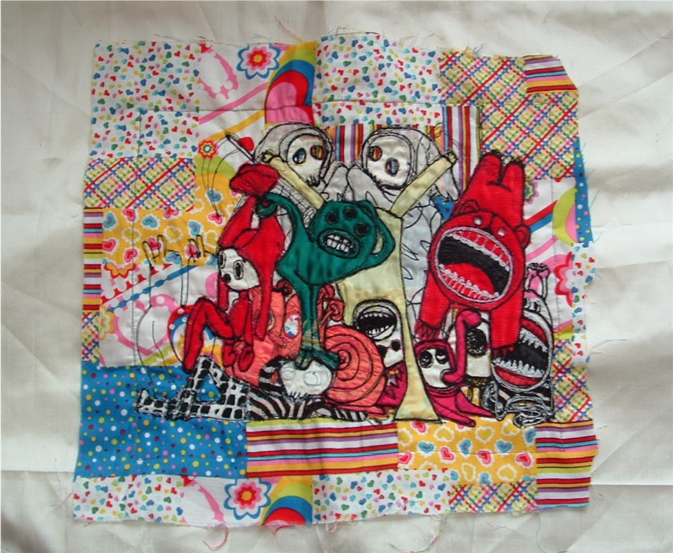doodle drawing in stitches
