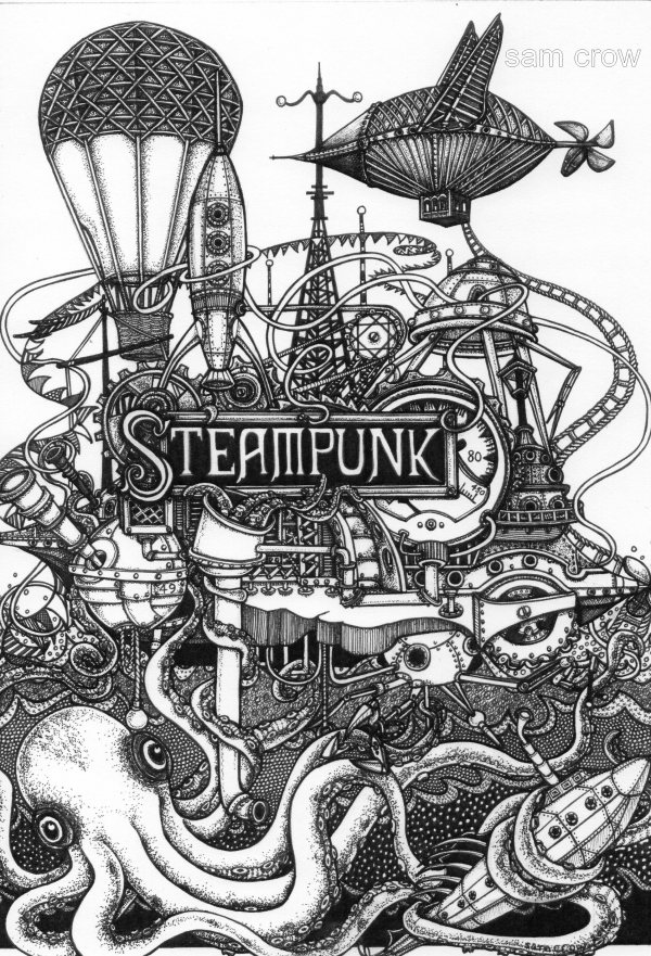 Steampunk Art Sam Crow