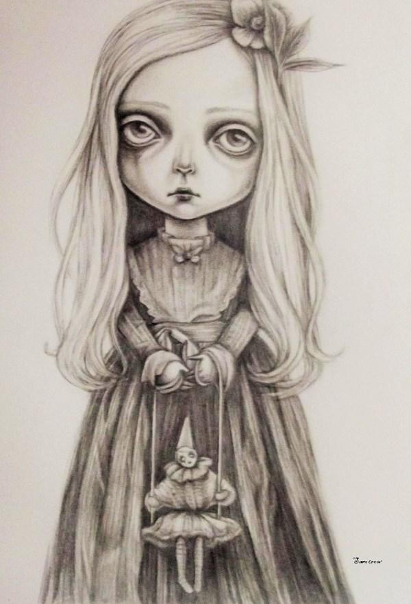 Big Eyes Sam Crow Art