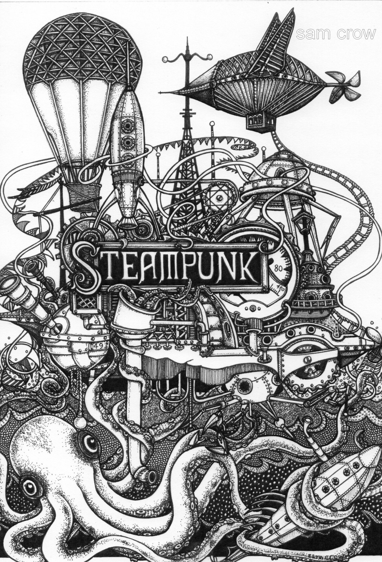 Steampunk Inky Fingers