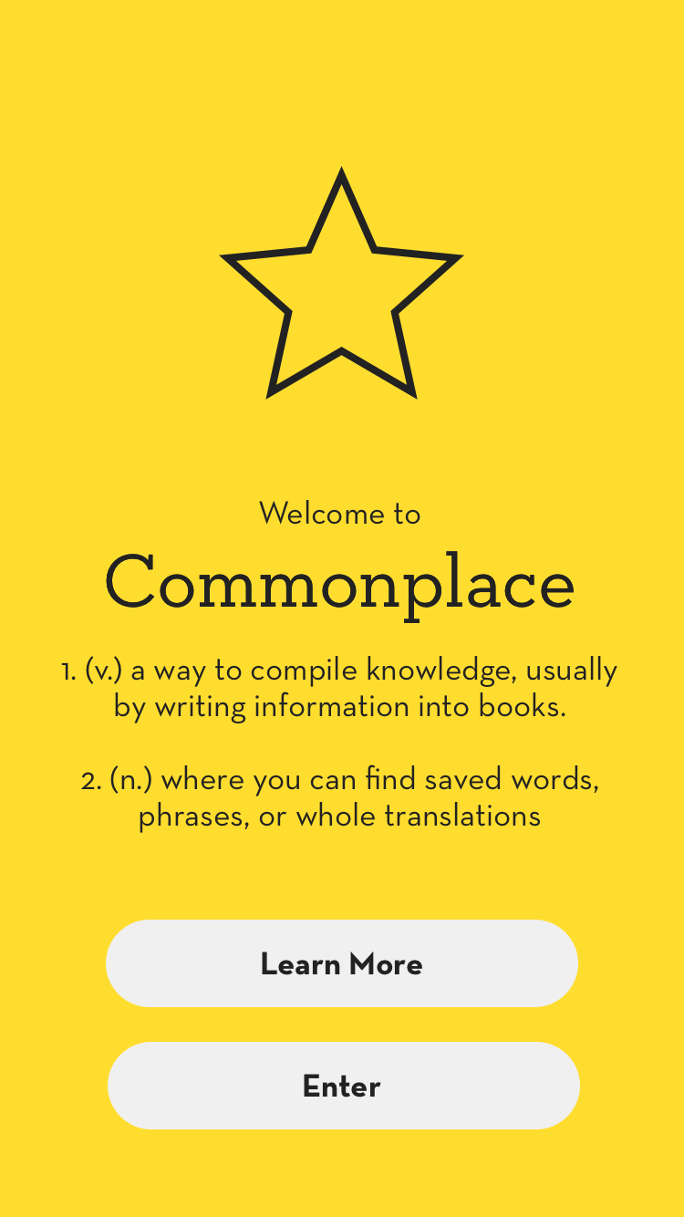 Commonplace Intro