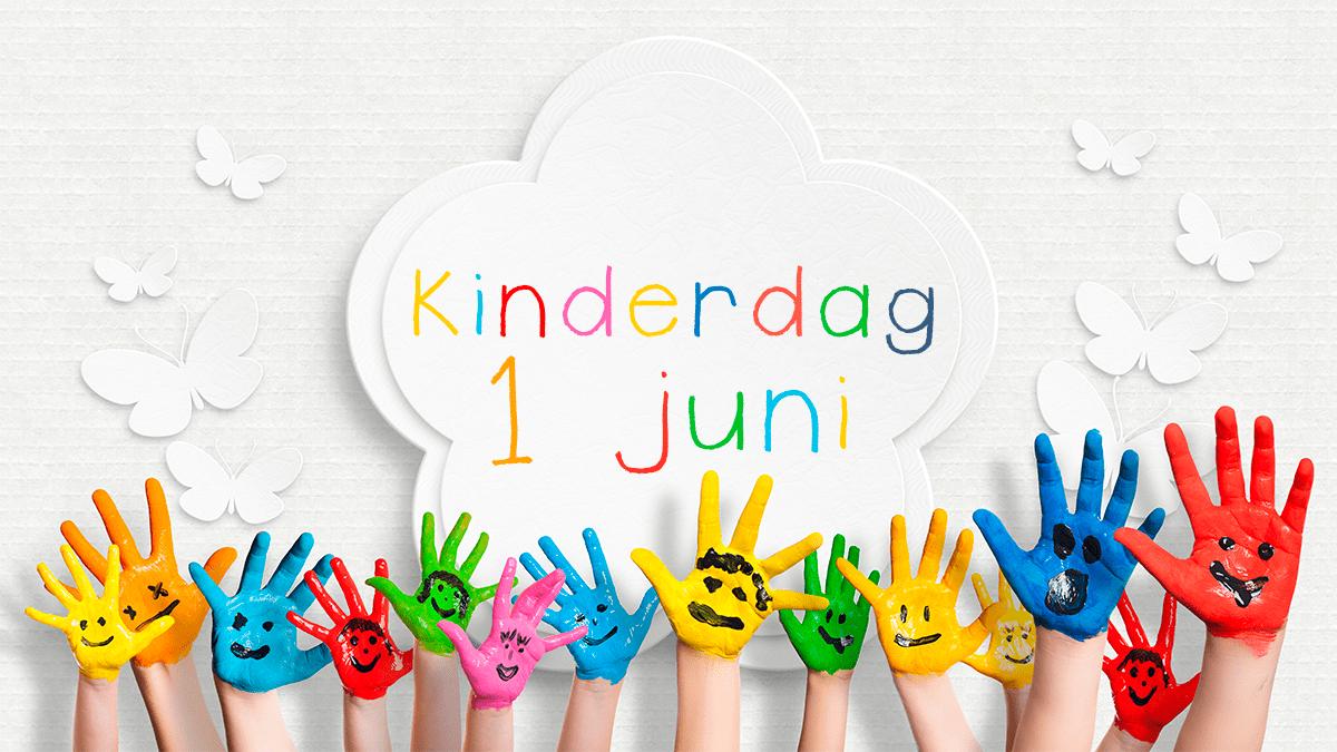kinderdag 1 juni 2018 handen met gezichtjes erop geverfd