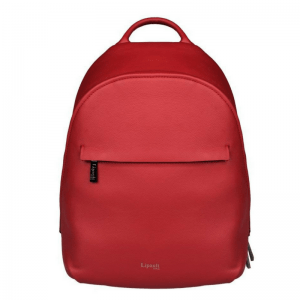Lipault Plume Elegance round backpack S ruby red