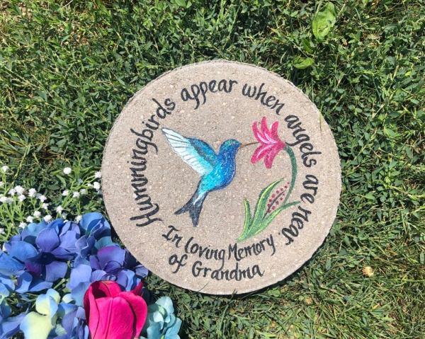 hummingbird garden stone