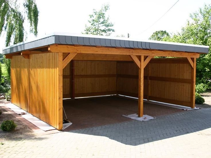 3 Car Carport Wood