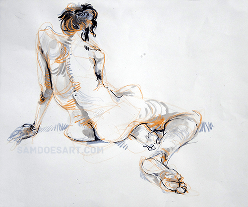 Ink and crayon. 2013.