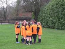 Half time team huddle