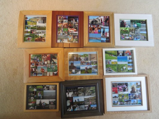 All our holiday montage photos, not sure I needed to take a picture of these but did so anyway.