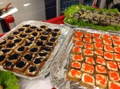 And what school lunch wouldn't be complete without some caviar.