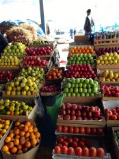 Apples make a colourful display.