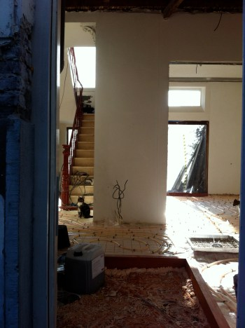 On the ground floor light enters from the staircase and dining room windows