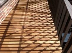 Shadow reflecting on terrace floor