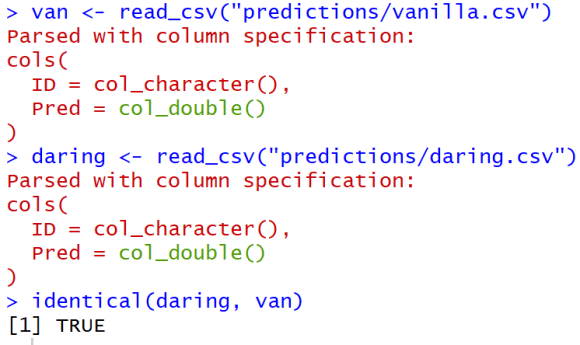 A comparison of my vanilla and spiced-up predictions