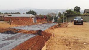 Tarmacking road in Kigali Rwanda